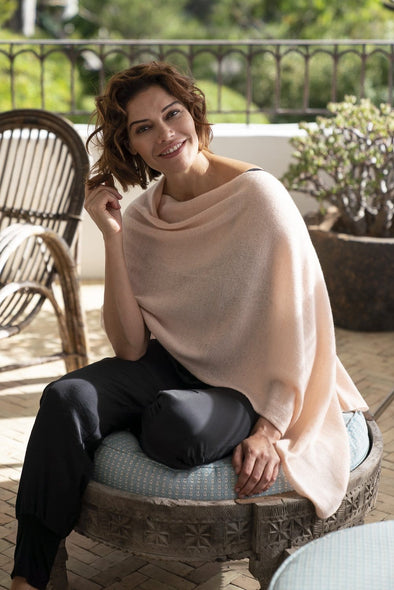 Blush Pink Cashmere Topper