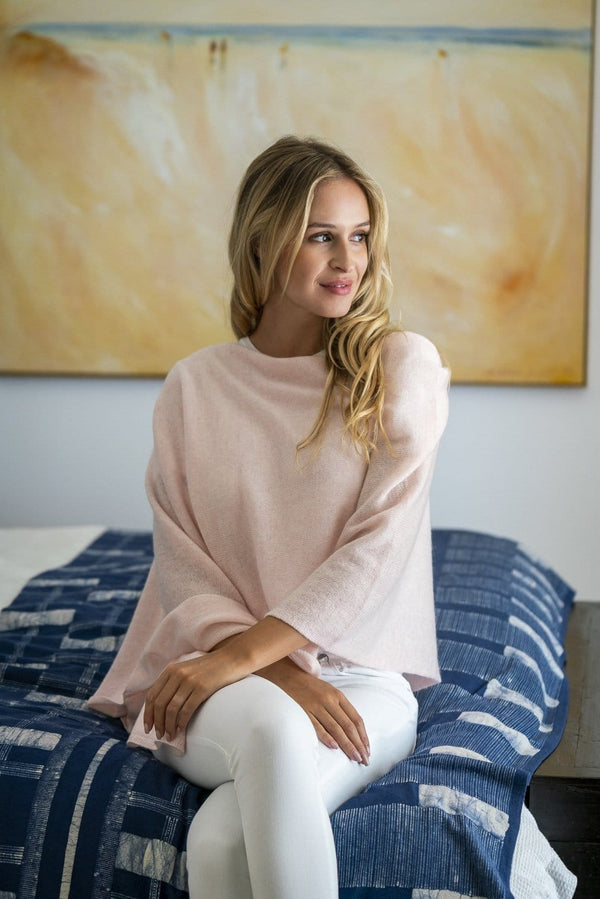 Dawn Pink Cashmere Topper