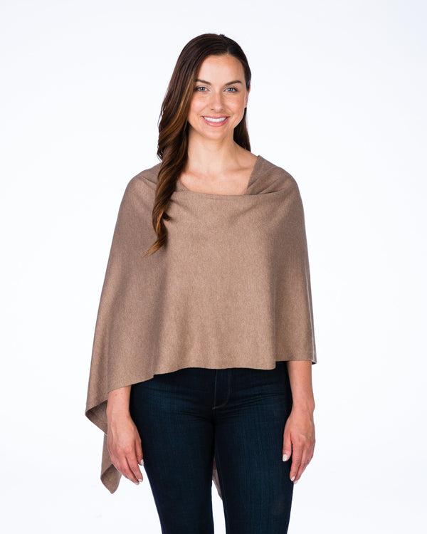 Cotton Cashmere Topper - Praline