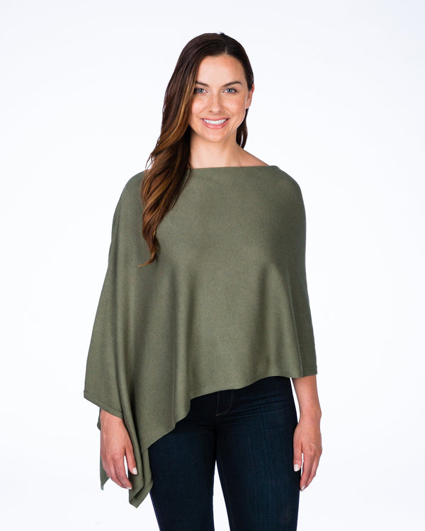 Cotton Cashmere Topper - Olive