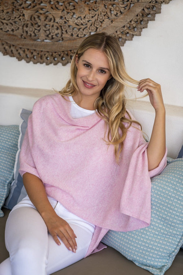 Paradise Pink Cashmere Topper