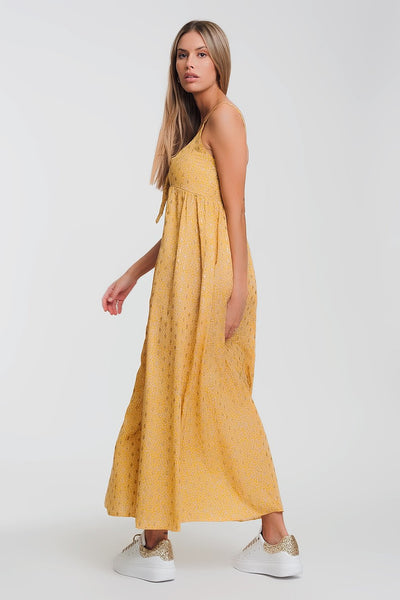 Piper Midi Yellow Dress - myboho.com.au