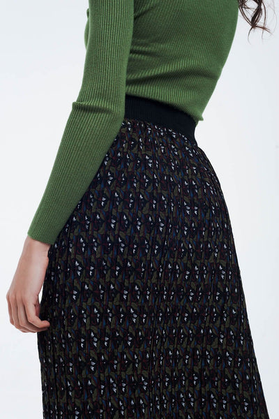 Saffron Pleated Midi Skirt - myboho.com.au