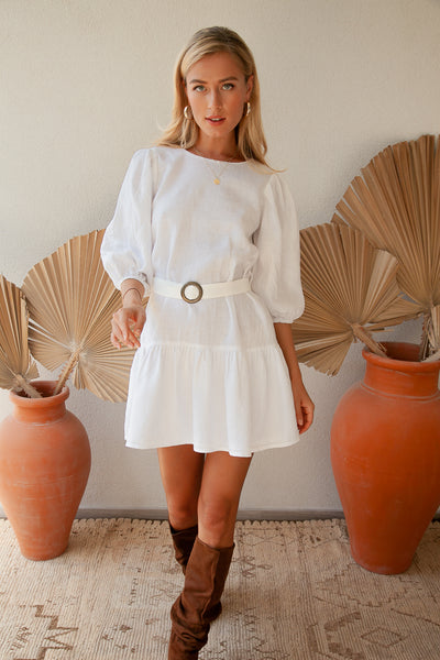 Juliet Linen Dress - myboho.com.au