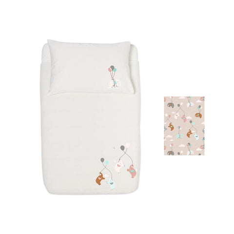 Cot Duvet set - Fun Elephants