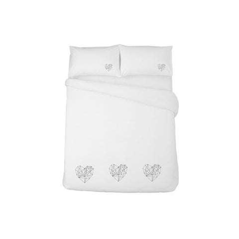 Duvet set - Geometrical Hearts