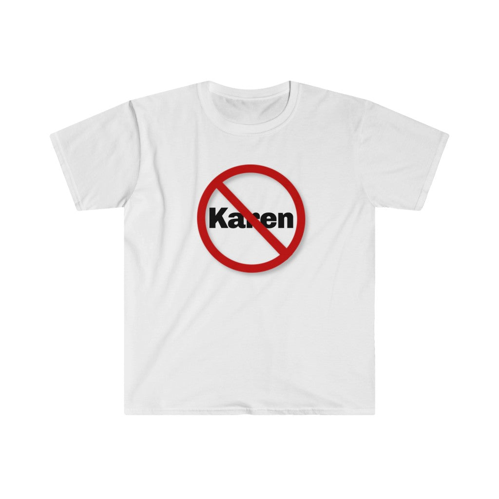 """NO KAREN ZONE"" Fitted Short Sleeve Tee"