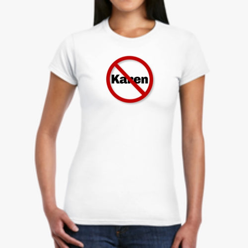 "Women's ""No Karen Zone"" Softstyle Tee"