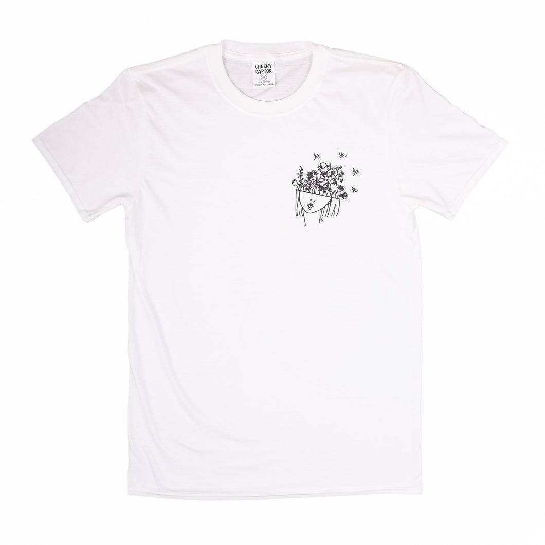 'Flowers For Thought' Cheeky Tee