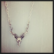 Sterling Silver Stag Head Necklace