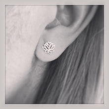Sterling Silver Lotus Flower Studs