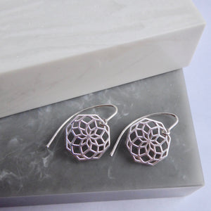 SALE!! Sterling Silver Rosette Earrings