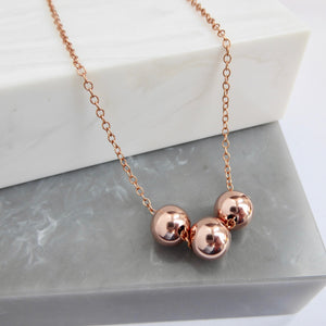 Rose Gold Filled Bead Necklace