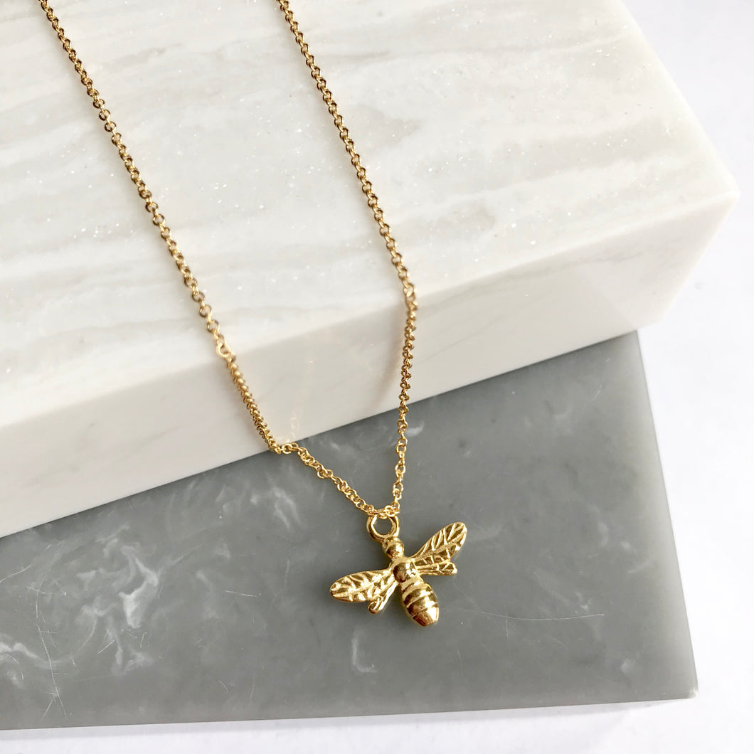 Gold Plated Bee Necklace