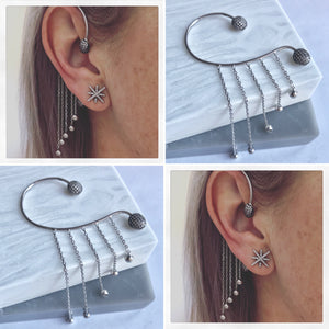 SALE!! Sterling Silver Over The Ear Cuff