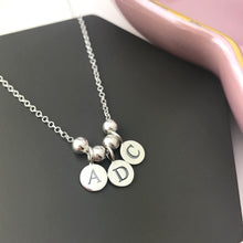 sterling silver personalised initial necklace