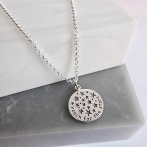 Sterling Silver Reach For The Stars Necklace