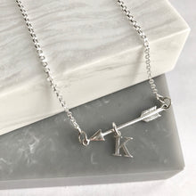 Sterling Silver Personalised Arrow Necklace