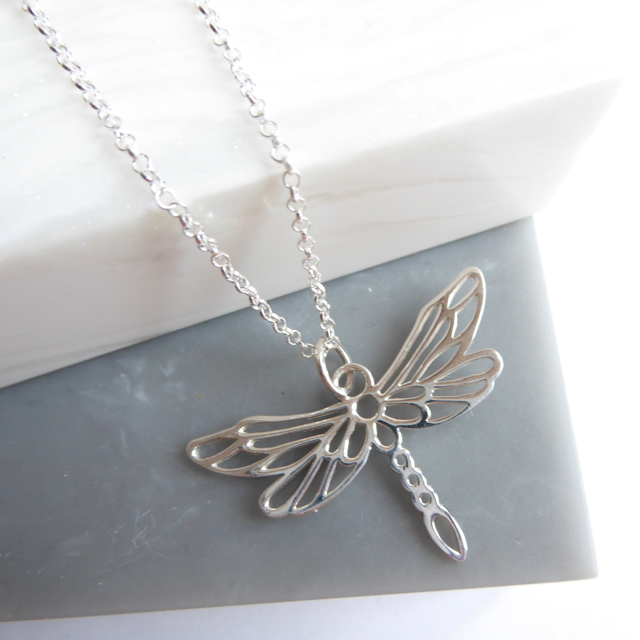 origins dragonfly art necklace l pendant canvas silver the shop gallery