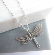 Sterling Silver Giant Dragonfly Necklace