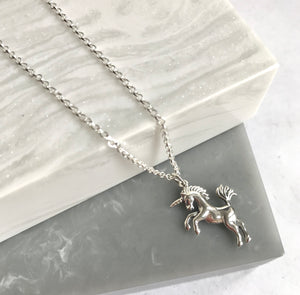 Sterling Silver Unicorn Necklace