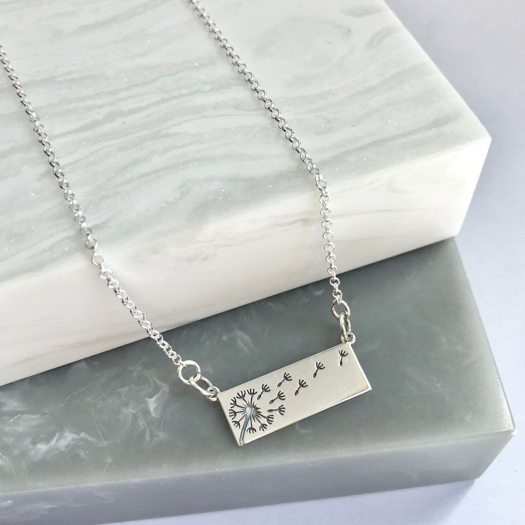 Sterling Silver Wishes In The Wind Necklace