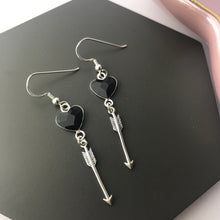 Sterling Silver Cupid's Arrow Earrings