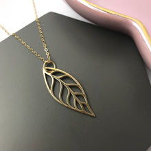 Gold Filled & Bronze Large Leaf Necklace