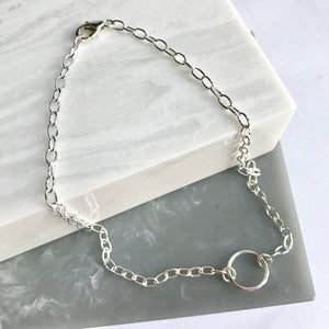 Sterling Silver Circle Anklet