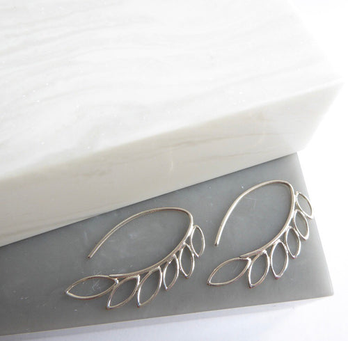 Sterling Silver Vine Hook Earrings