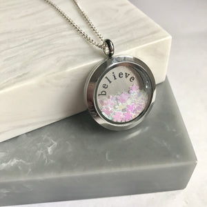 Dandy Rocks 'Believe' Glitter Locket