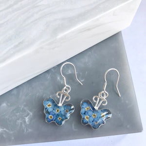SALE!! Sterling Silver Forget Me Not Butterfly Earrings