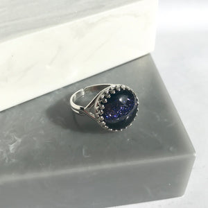 Sterling Silver Starry Night Ring