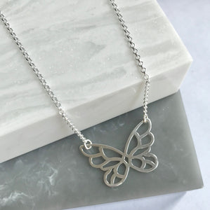 SALE!! Sterling Silver Butterfly Necklace