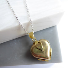 SALE! Brass And Sterling Silver Folding Locket Necklace
