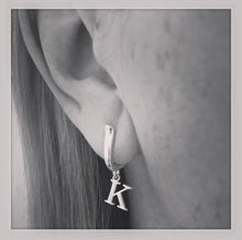 Sterling Silver Initial Earrings