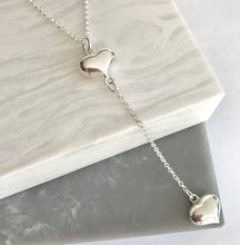 Sterling Silver Double The Love Heart Necklace