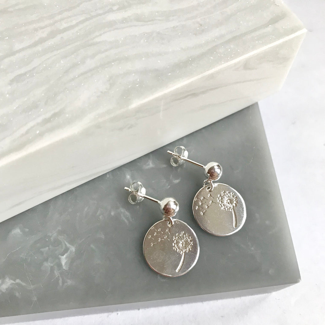 Sterling Silver Dandelion Wish Earrings