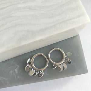 Sterling Silver Huggies With Discs