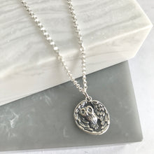 SALE!! Sterling Silver Owl Necklace