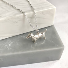 Sterling Solid Silver Dachshund Necklace