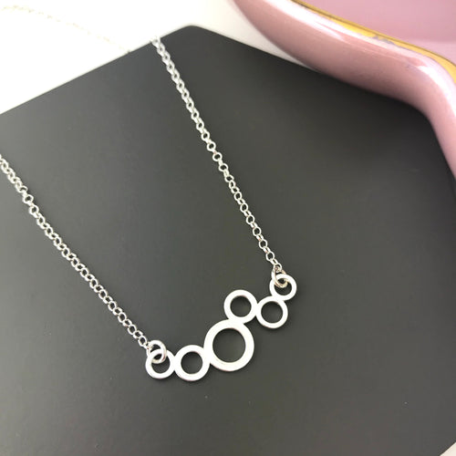 Sterling Silver Joined Circles Necklace