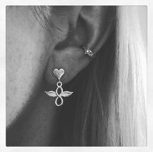 Sterling Silver Infinity Wing Earrings