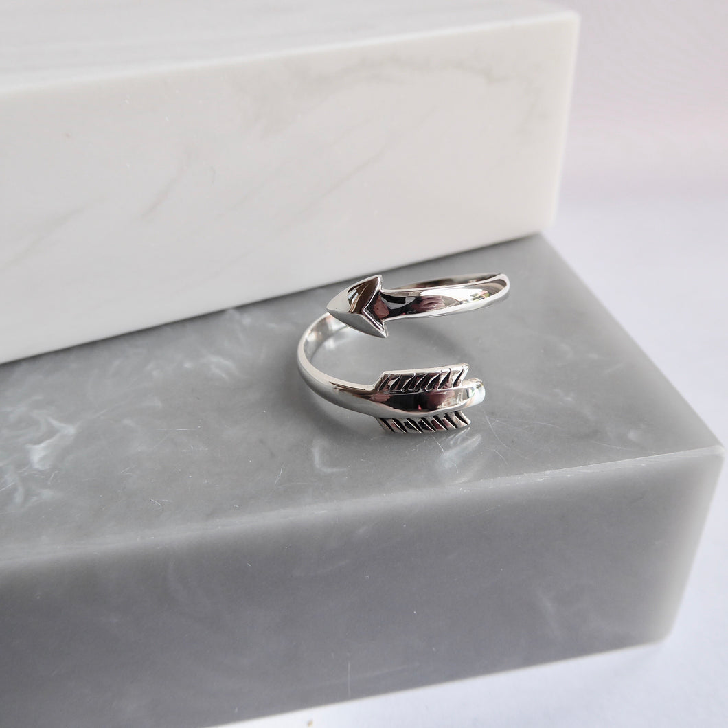 Sterling Silver Adjustable Arrow Ring