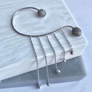Sterling Silver Over The Ear Cuff