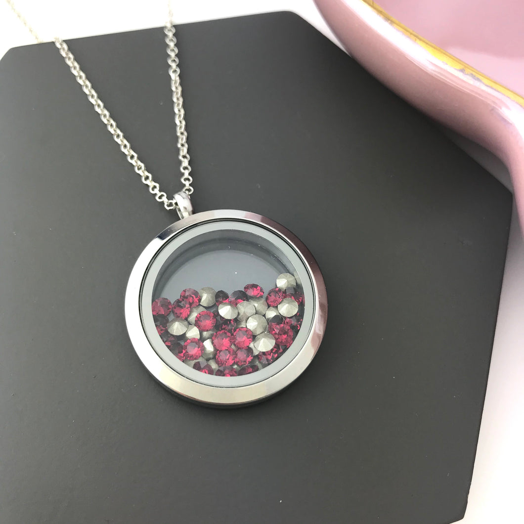 Dandy Rocks Locket With Birthstone Swarovski Elements Crystals