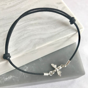 Sterling Silver Bee Friendship Bracelet