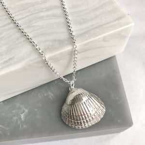 Sterling Silver Giant Shell Necklace