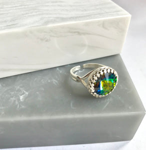 Sterling Silver Swarovski Elements Sparkler Rainbow