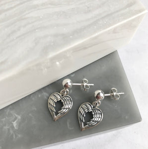 Sterling Silver Double Wing Earrings